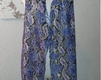 "Long Hooded Vest - ""Snake in Lace"" - Size SMALL"