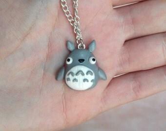 Totoro Necklace or Keychain My neighbor Totoro Studio Ghibli