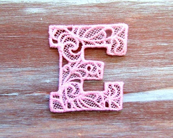 Embroidered Lace Letters-Wall Decor-Lace-Letters-Ornaments