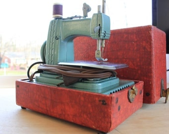 Machines coudre vintage etsy fr for Machine a coudre 1950