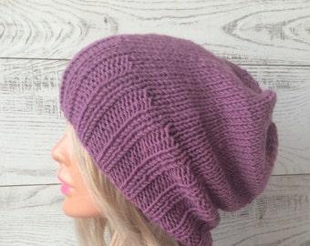 Knit hat slouchy knit hat women hat winter hat chunky knit hat womens hat knit beanie