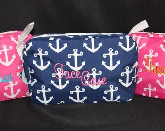 "Anchor ""Face Case"" Cosmetic Makeup Bag"