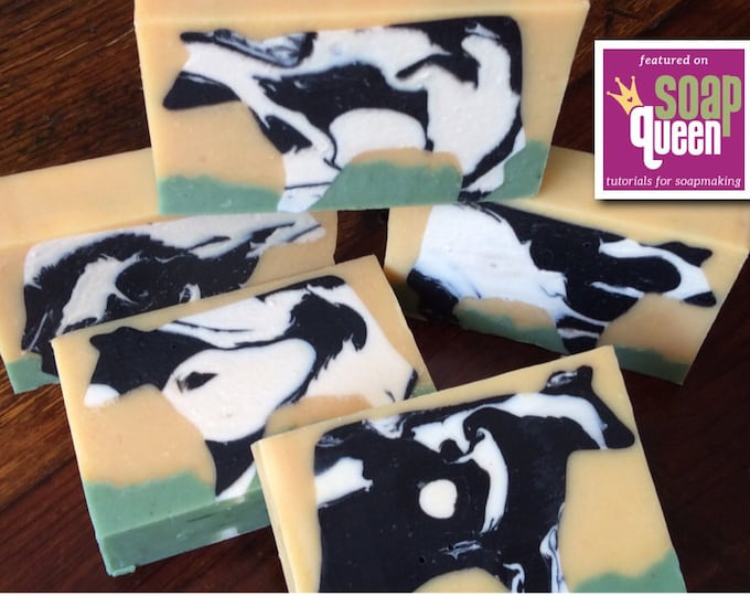 Featured listing image: UDDERLY FANTASTIC SOAP...Raw Cow Milk, Goat Milk, and Coconut Milk, Gentle Soap, Bubbly Creamy Lather,