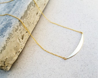 bar choker, smile charm,dainty gold necklace,vermeil choker,delicate minimal choker,sterling silver gold filled