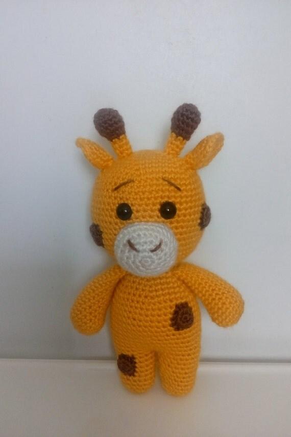 Cuddly Amigurumi Giraffe : Amigurumi Giraffe Handmade Organic Amigurumi Stuffed Toys