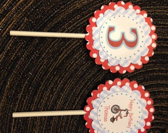 Set of 12 Cupcake Toppers