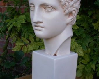 """High Bust of Antinous, lover of Roman Emperor Hadrian (15.7"""")"""