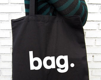Egocentric bag  -  Black Tote Bag – Screen Printed 100% Cotton.