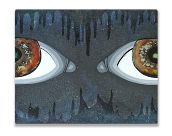 Oasis II, Original Acrylic and Resin Painting, Handmade by MENGXUAN LIU