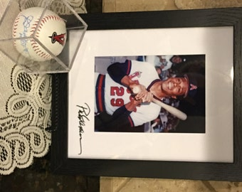 Autographed ROD CAREW baseball with HOF '91 and signed framed photo!