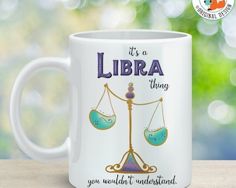 Coffee Mug Libra Astrological Sign Coffee Cup - Great Birthday Gift - Horoscope Mug