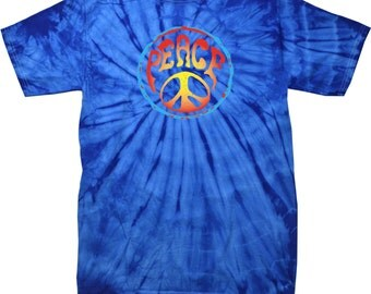 Psychedelic Peace Mens Spider Tie Dye Tee T-Shirt PSYCHEDELIC-1000S