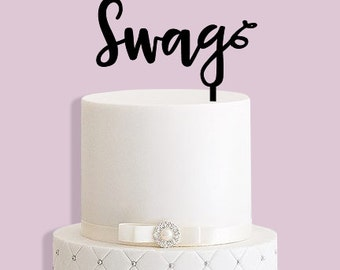 Swag Cake Topper