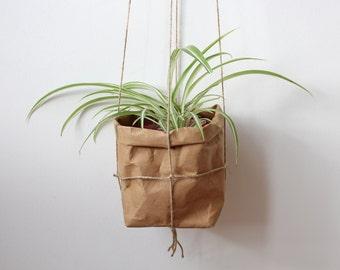 Planter, hanging paper planter, macramé planter, washable paper, air planter, wall planter, hanging planter, plant pot, interior decor