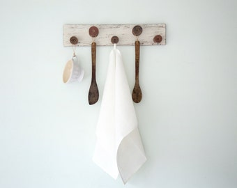 White Linen Dish Towels set of 2