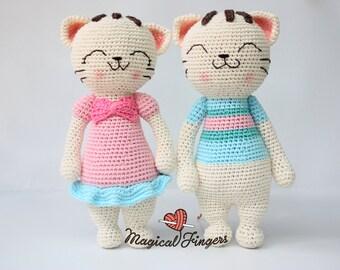 Crochet kitty boy and girl