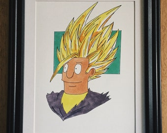 Bob's Burgers Art, Dragon Ball Z, Gohan, Fan Art, Prints