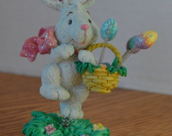 1995 Enesco Spring Has Sprung Easter Bunny
