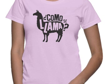 Como Se Llama Shirt Funny School Shirts Funny Spanish Shirt Llama T-Shirt Animal Shirt Dad Jokes Spanish Class Shirt Funny Graphic T-Shirt