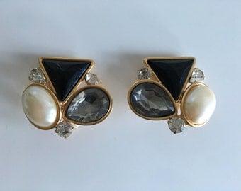 1980's Vintage Cluster Earrings