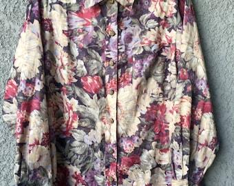 Floral Graff blouse/overshirt