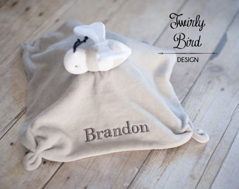 Personalized Baby Lovey - Baby Shower Gift - Minky Baby Lovey