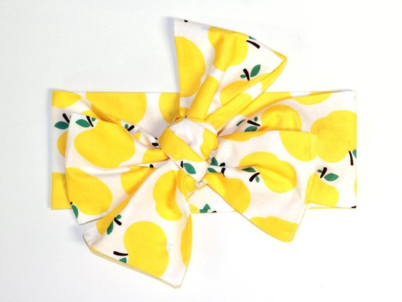 bandeau b b fille b b fille turban turban pour b b arc de b b b b turban pommes jaunes. Black Bedroom Furniture Sets. Home Design Ideas