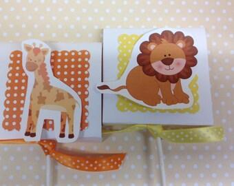 Zoo Animals Party Lollipop Favors - Set of 10