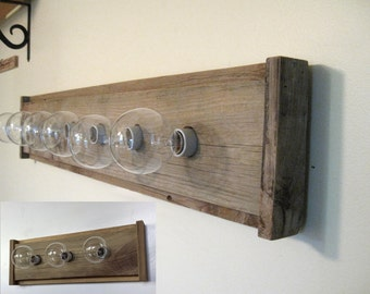 Bathroom Light Fixture   Reclaimed Wood (6) Or (3) Bulbs For Vanity