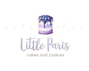 Bakery logo | Watercolor Logo | Cake logo | Home bakery Logo  | Cute Logo | Business Logo | Shop Logo