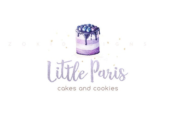 bakery logo watercolor logo cake logo home bakery logo
