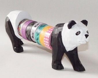 Large Multiple Roll Tape Holder Animalia Panda Washi Tape Organizer Washi Tape Dispenser Washi Tape Organizer