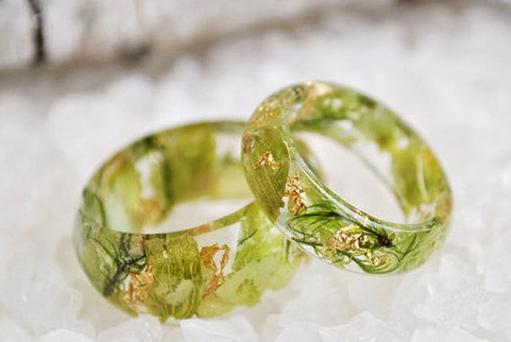 like this item - Nature Inspired Wedding Rings