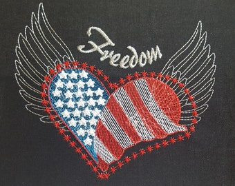 Freedom embroidery design / Independence day / Machine embroidery design