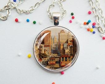 San Francisco skyline pendant - I left my heart in San Francisco