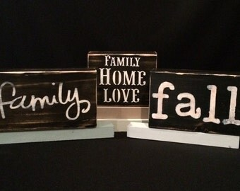 Wooden Block,Word Block,Word Signs,Word Art Wood,Sayings,Word Print,Letter Art,Quotes,Fall,Family,