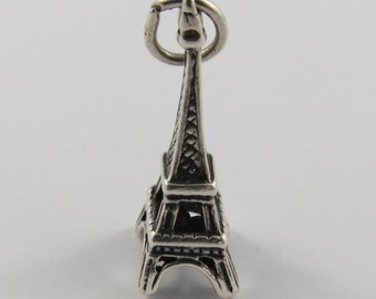 Eiffel Tower Sterling Silver Vintage Charm For Bracelet