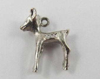 Doe Sterling Silver Vintage Charm For Bracelet