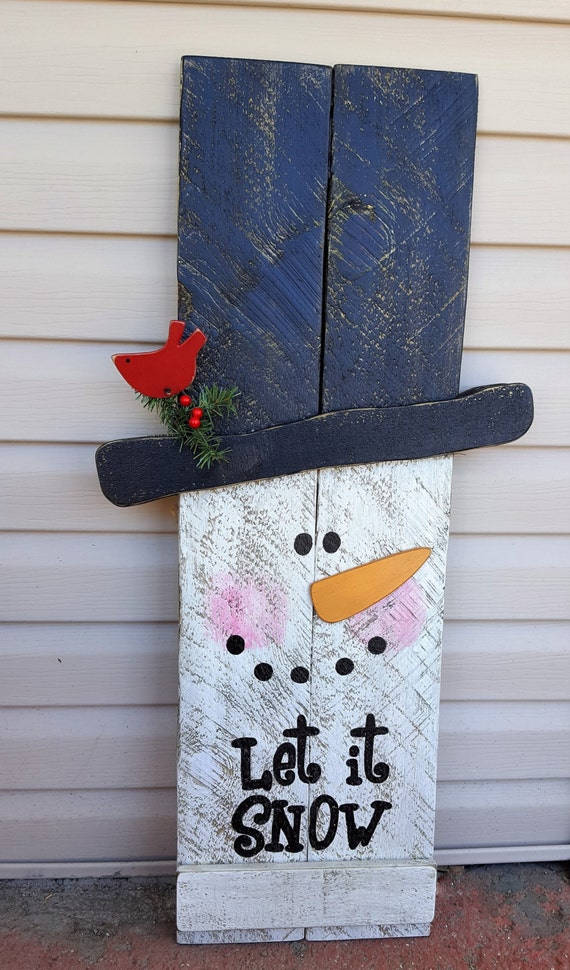 Reversible Fall Winter Sign 2 In 1 Sign Snowman Scarecrow