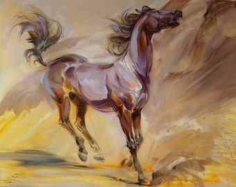Oil painting on canvas Horse painting Original artwork