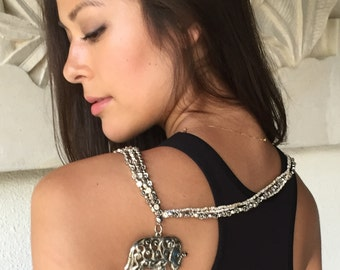 Silver Elephant Beaded Necklace for a cause