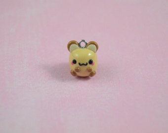 Kawaii Hamster Charm, Tiny Hamster, Kawaii Charm, Clay Charm, Cute Hamster, Hamster Necklace, Hamster Charm