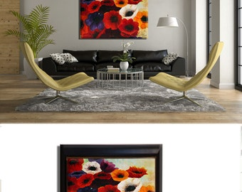 Flower Painting, Flower Wall Decor, flowers Painting, Peaceful Art, Nature Wall Decor, Flower Paintings, Flower Painting Oil