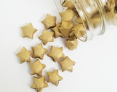 48 Gold Origami Stars: Gold Pearl - No Shed - Mini Stars - Star Decorations - Paper Stars - Baby Shower - Lucky Stars - Metallic - New Year
