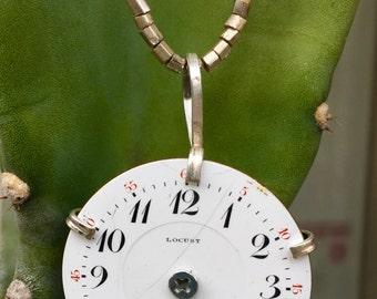 Vintage Pocket Watch Dial Pendant