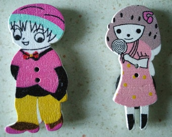 2 children (magnets) magnets - boy and girl