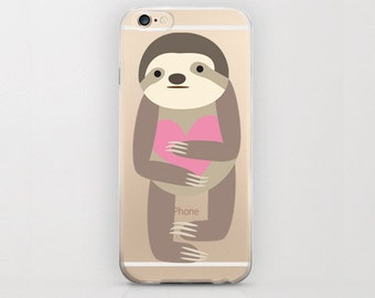 Sloth iPhone 6 Case iPhone 6s Mammal Adorable Phone Case iPhone 6s Cute Case iPhone 6 Adorable Case Brown Sloth Mammal Animal Megalonychidae