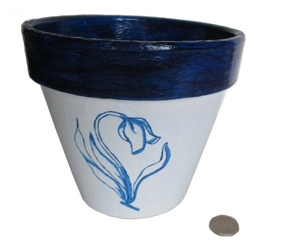 Tulip Plant Pot Blue And White Pot Delft William Morris