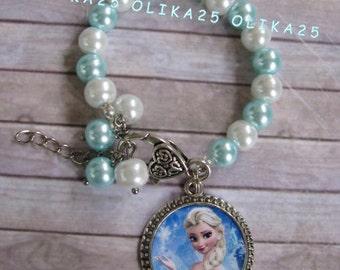 Girls bracelet Frozen bracelet Disney frozen Bracelet girls Jewerly Elsa birthday Gift bracelet Elsa party Girls bracelet Elsa bracelet