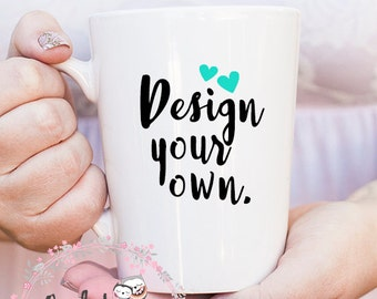 Custom 14oz White Mug- Custom Coffee Mug- Personalized Coffee Mug- Design Your Own Mug- Ceramic Mug